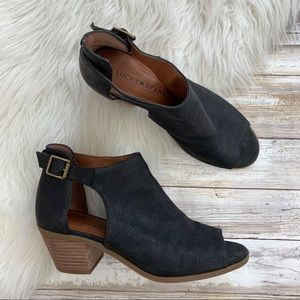 Lucky Brand Black Leather Barimo Bootie